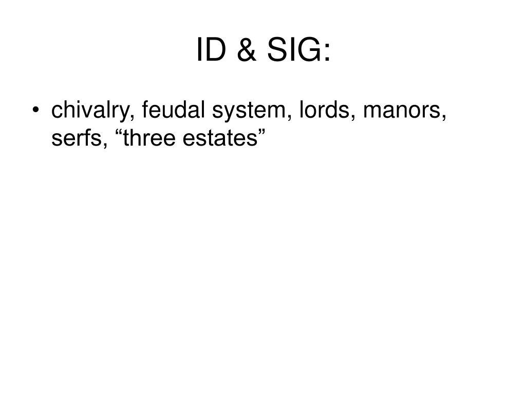 ID & SIG: