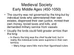 medieval society early middle ages 450 1050