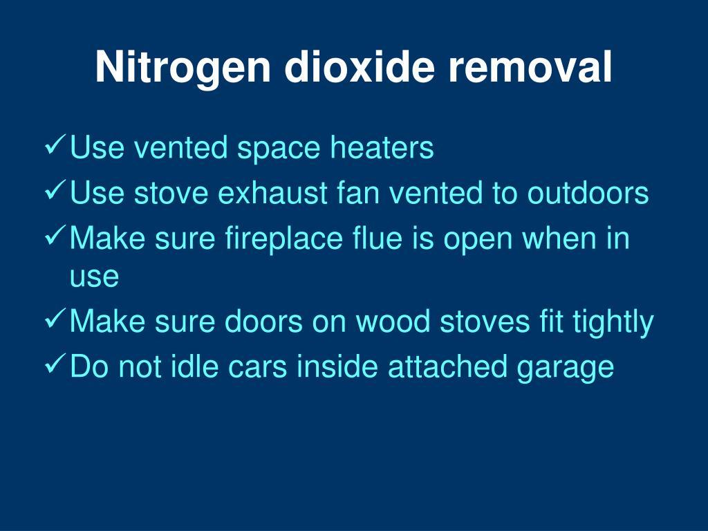 Nitrogen dioxide removal