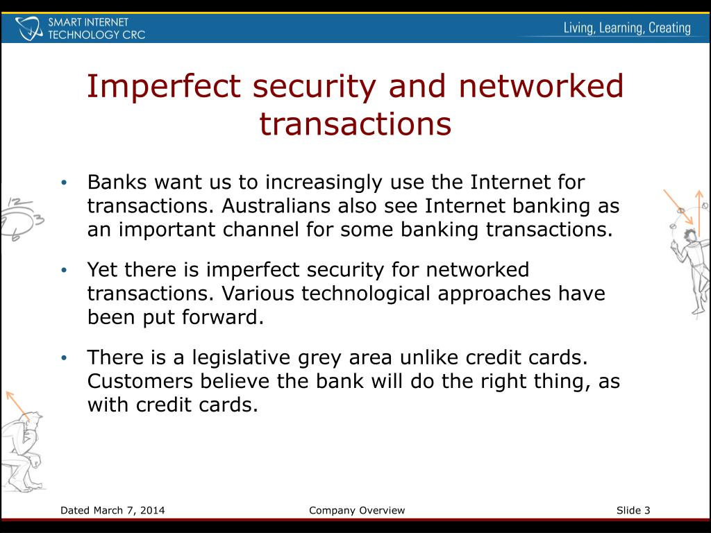 Imperfect security and networked transactions