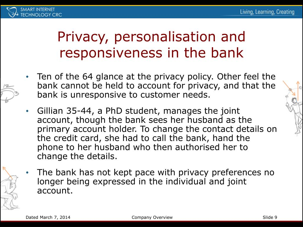 Privacy, personalisation and responsiveness in the bank
