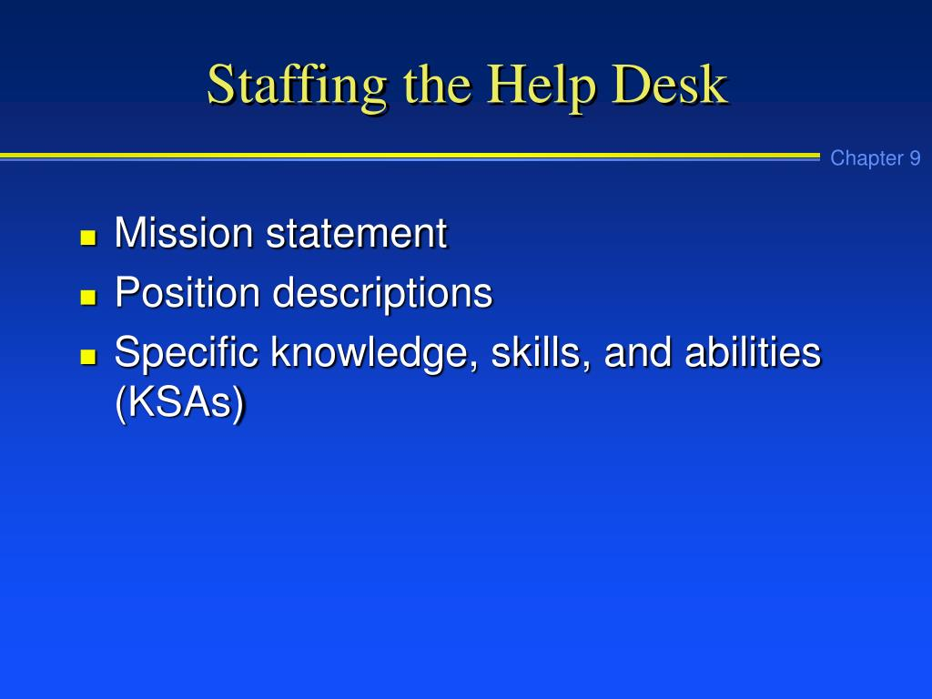 Staffing the Help Desk