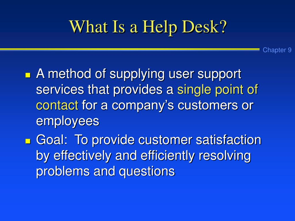 What Is a Help Desk?