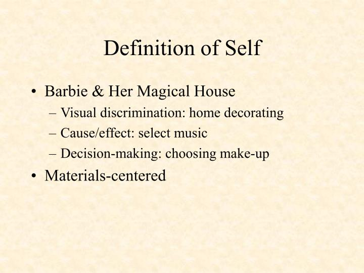 Definition of Self