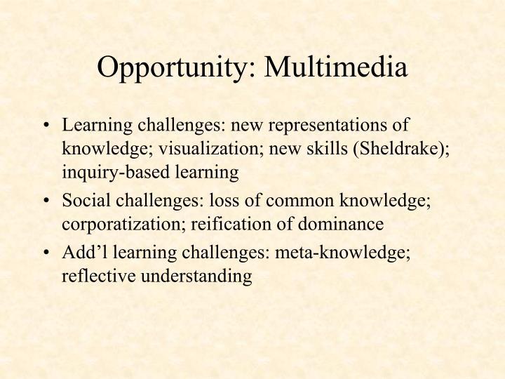Opportunity: Multimedia