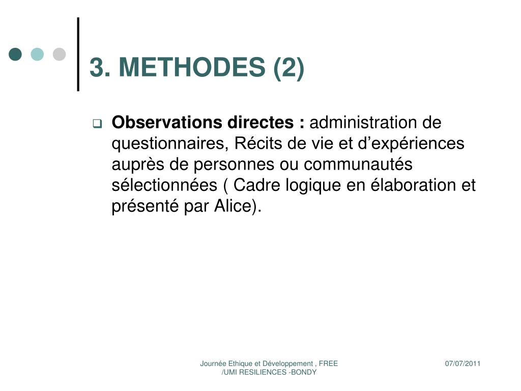 3. METHODES (2)