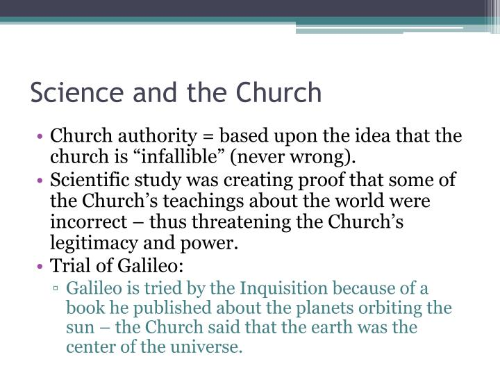 Science and the Church