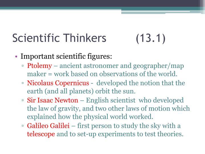 Scientific Thinkers (13.1)