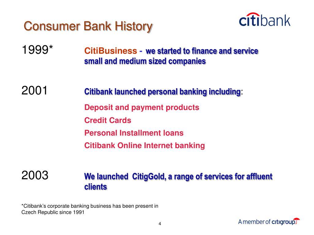 Consumer Bank History