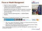 focus on wealth management