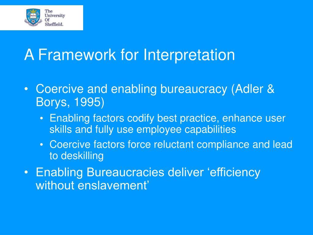 A Framework for Interpretation