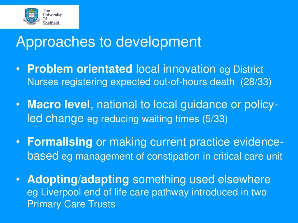 Approaches to development