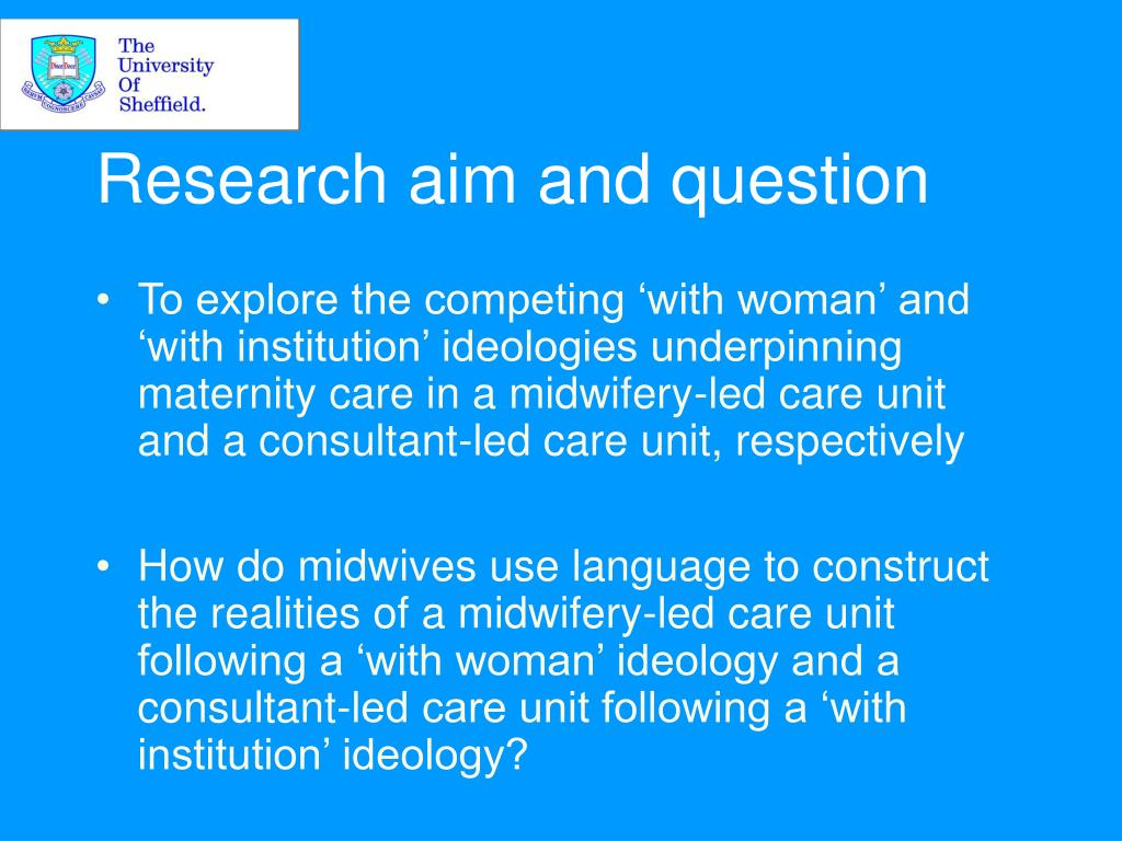 Research aim and question