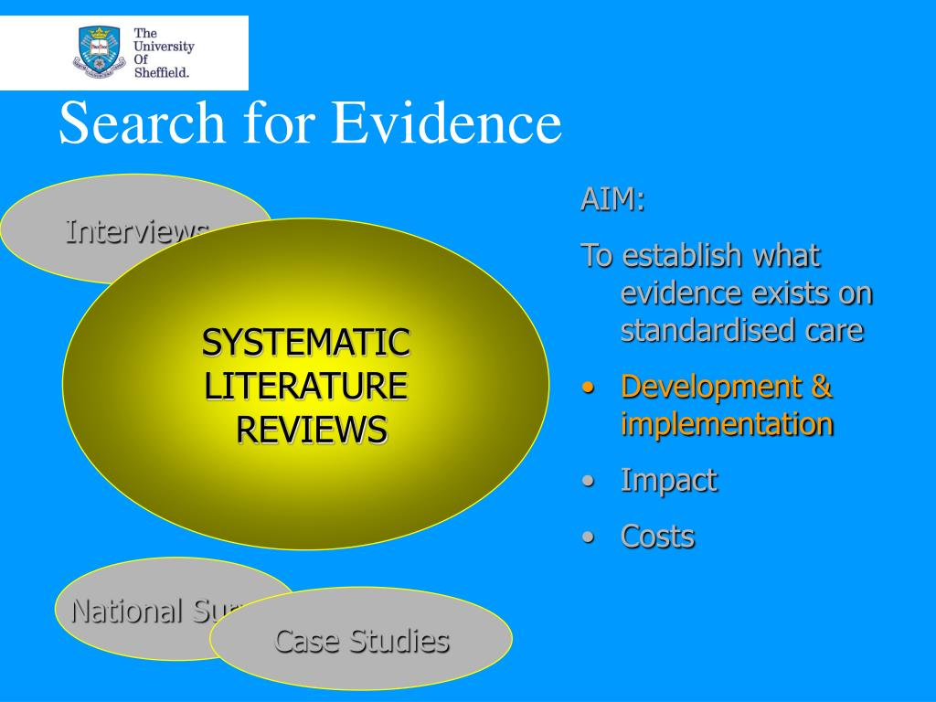 Search for Evidence