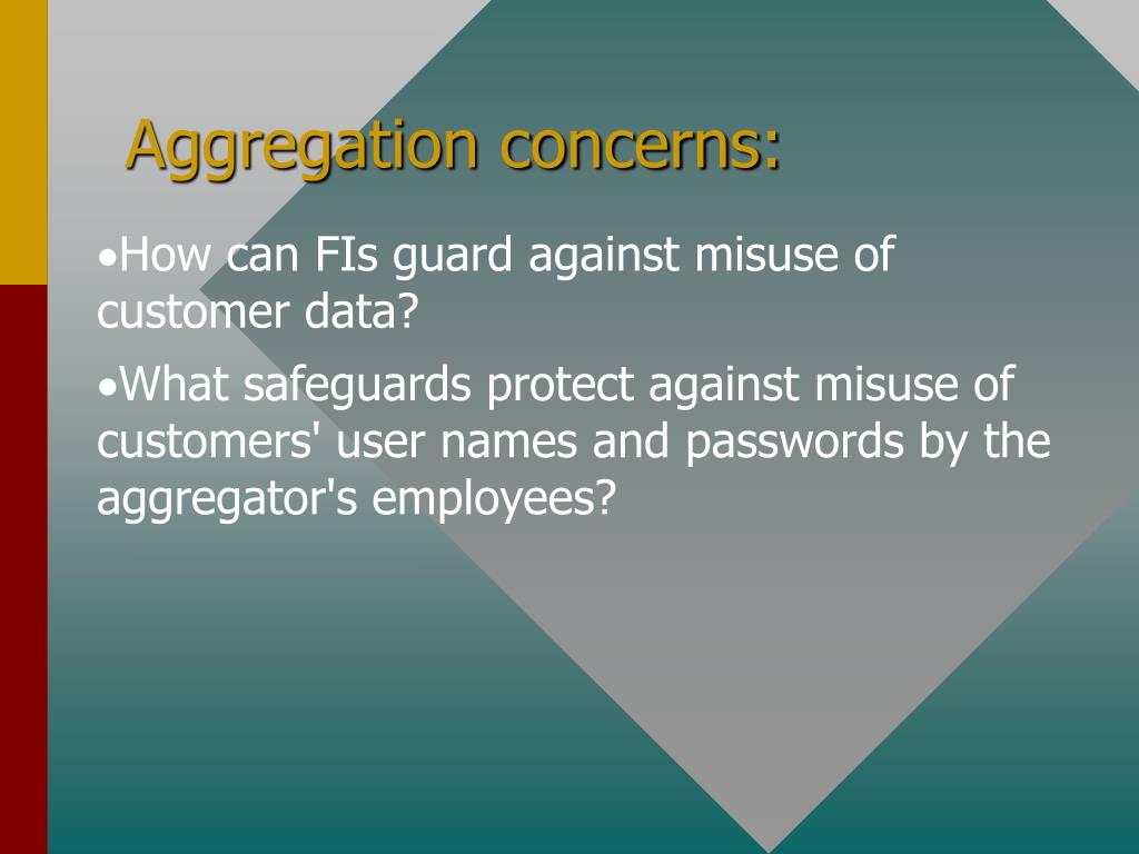 Aggregation concerns: