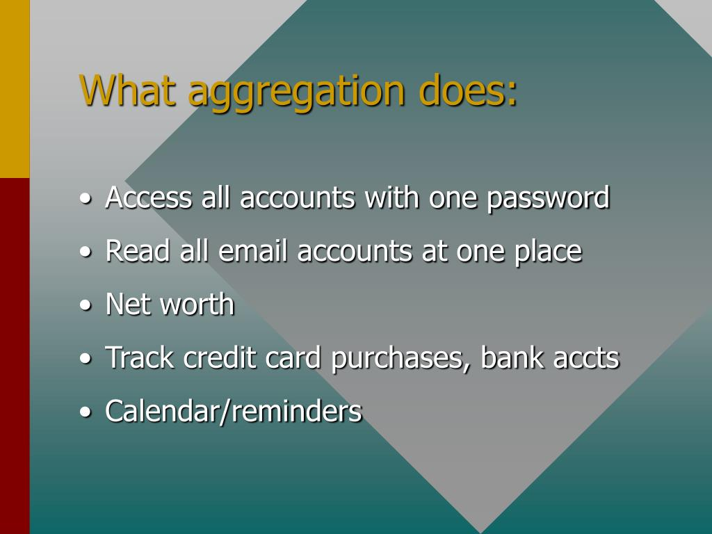 What aggregation does: