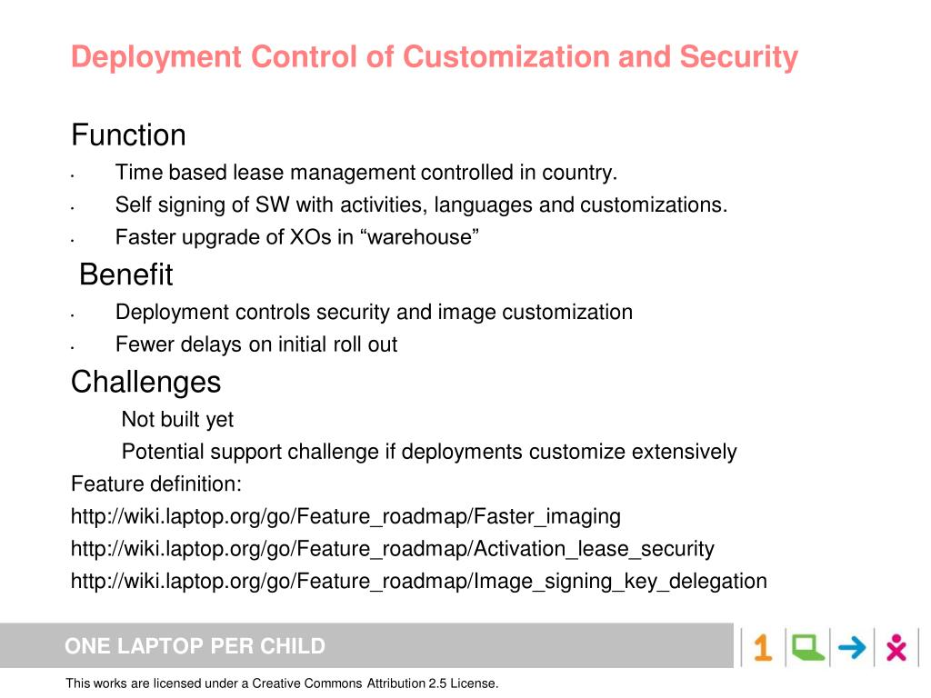 Deployment Control of Customization and Security
