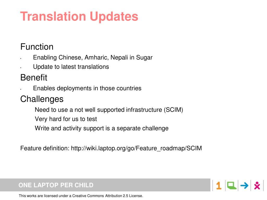 Translation Updates