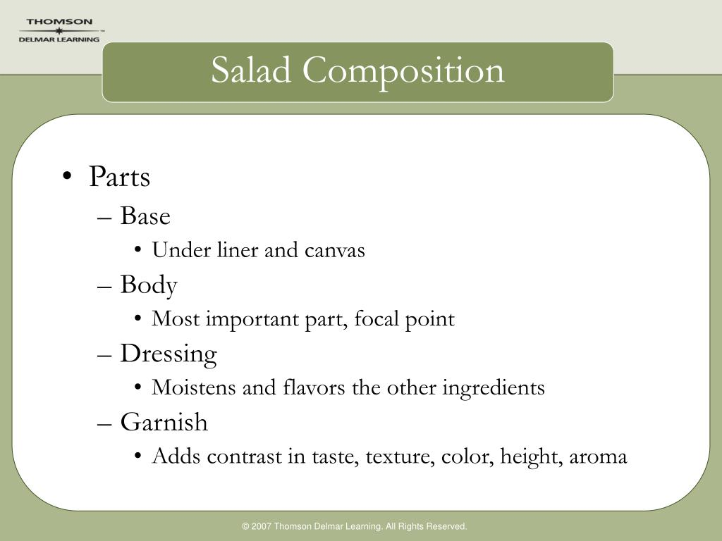Salad Composition