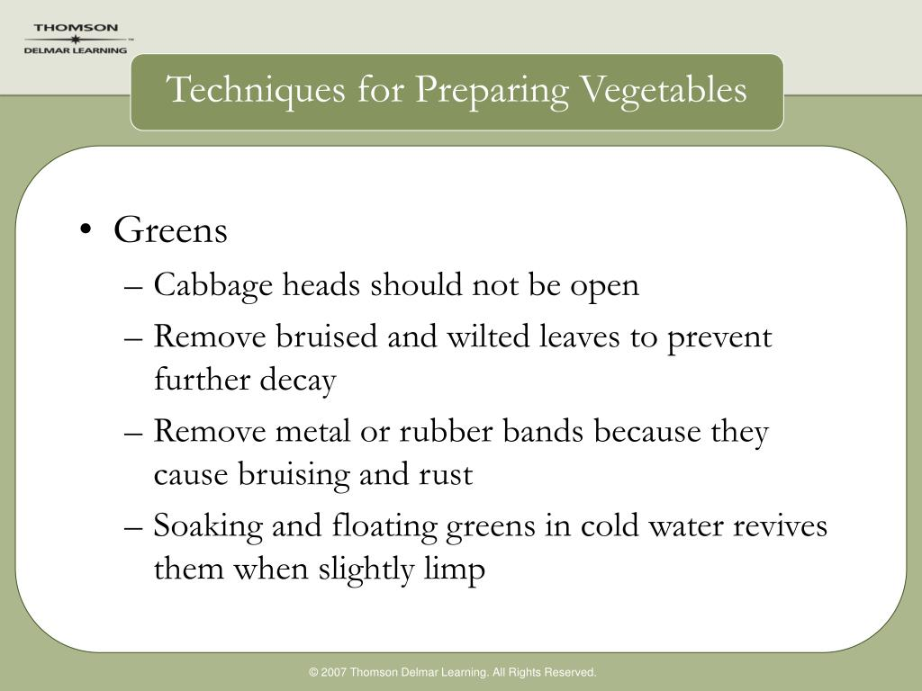Techniques for Preparing Vegetables