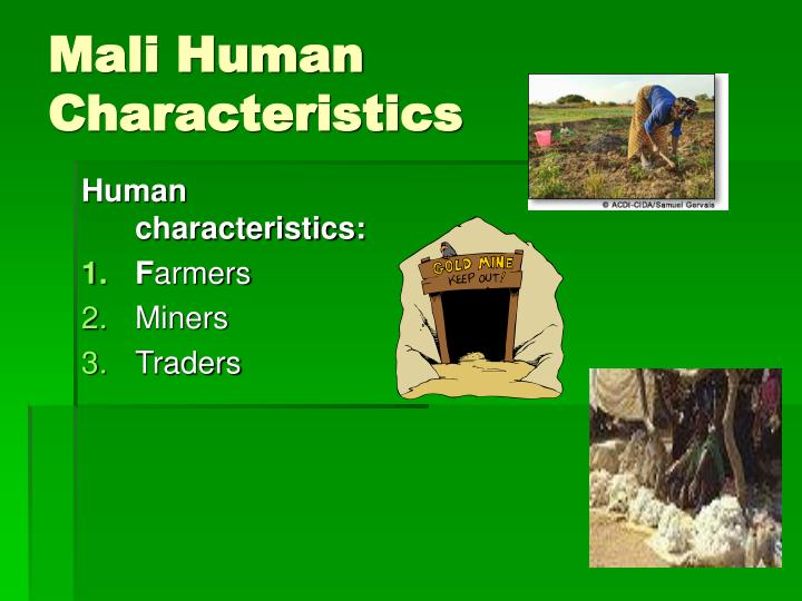 Mali Human Characteristics