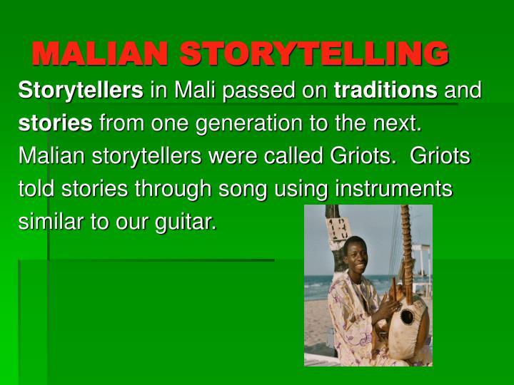 MALIAN STORYTELLING
