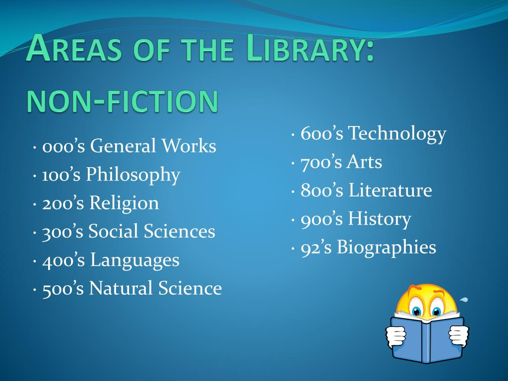 Areas of the Library:    non-fiction