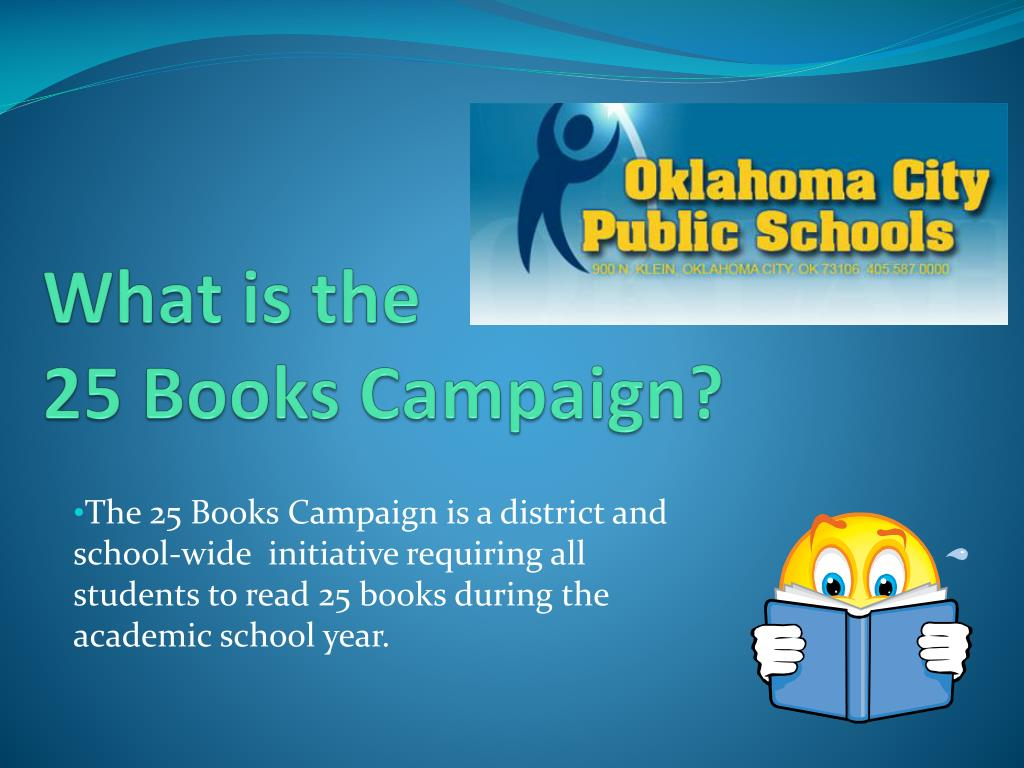 What is the                            25 Books Campaign?