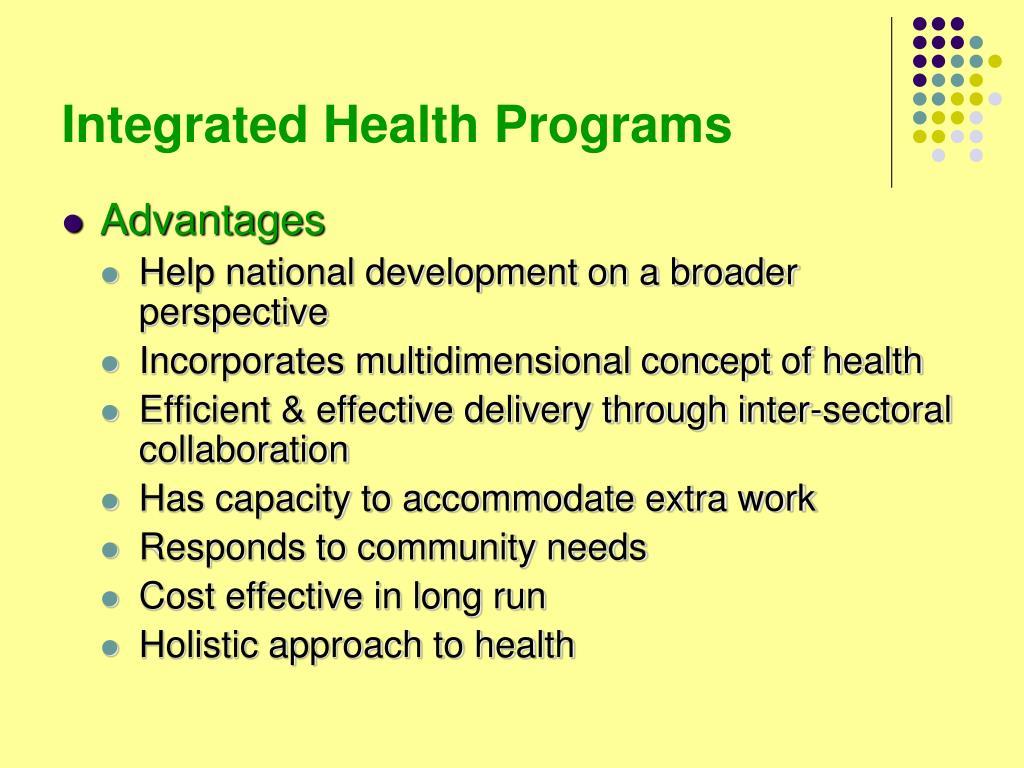 Integrated Health Programs