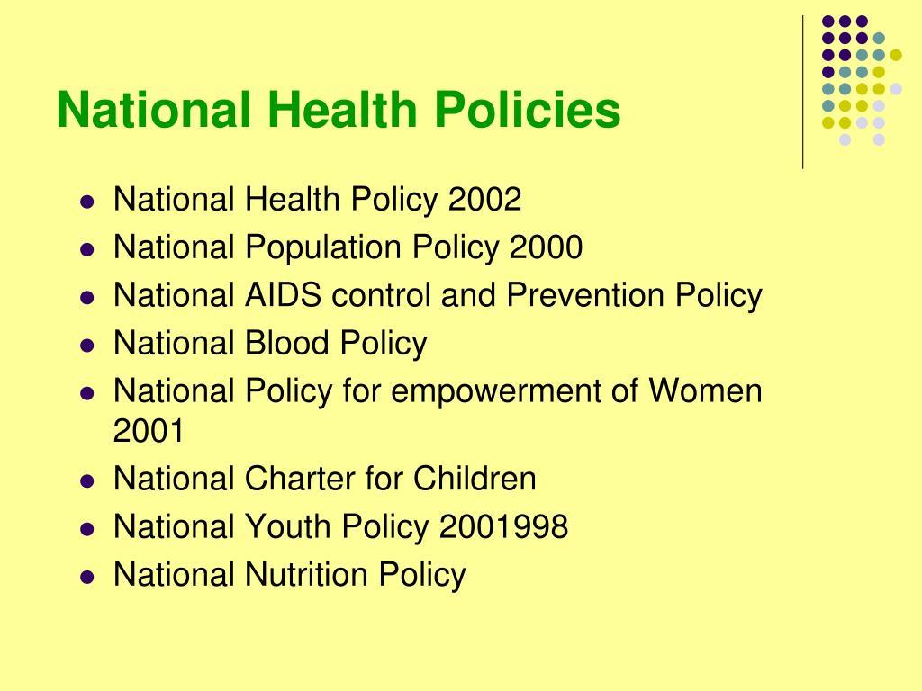 National Health Policies