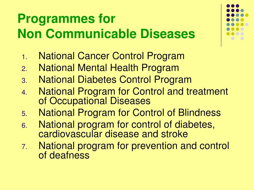 Programmes for