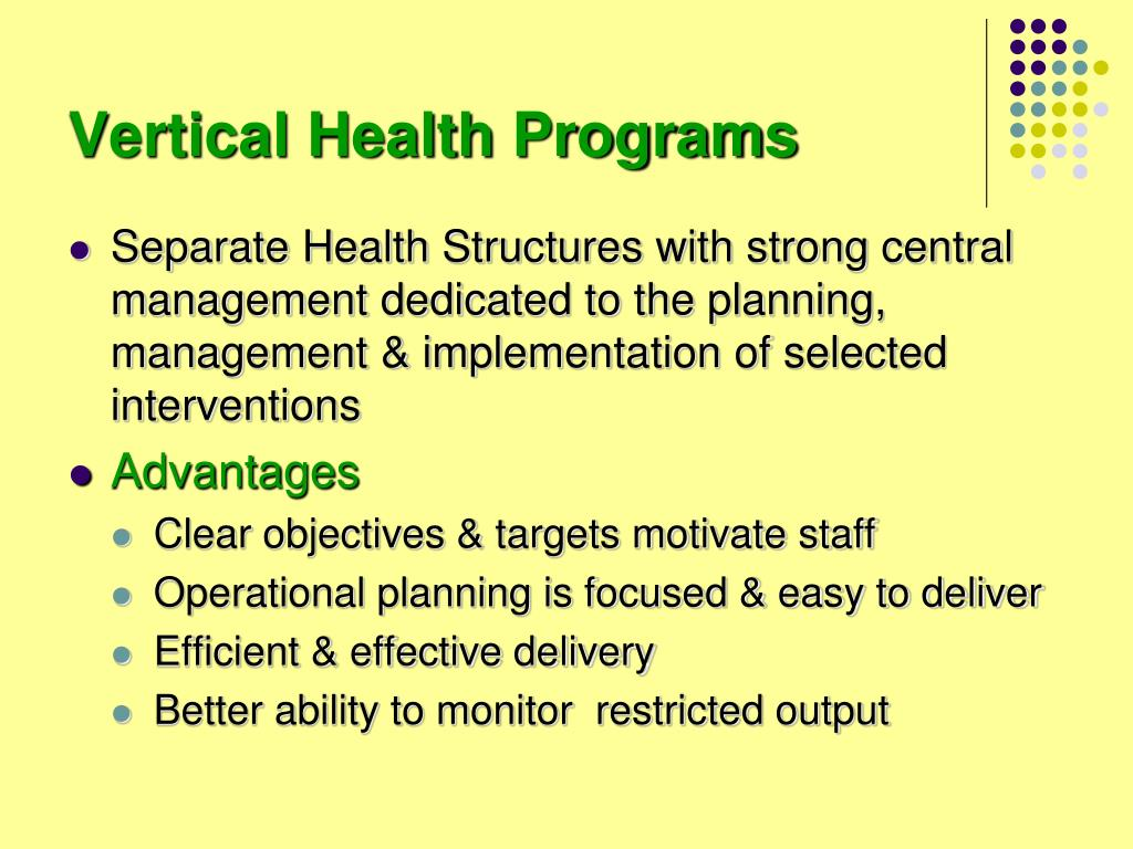 Vertical Health Programs