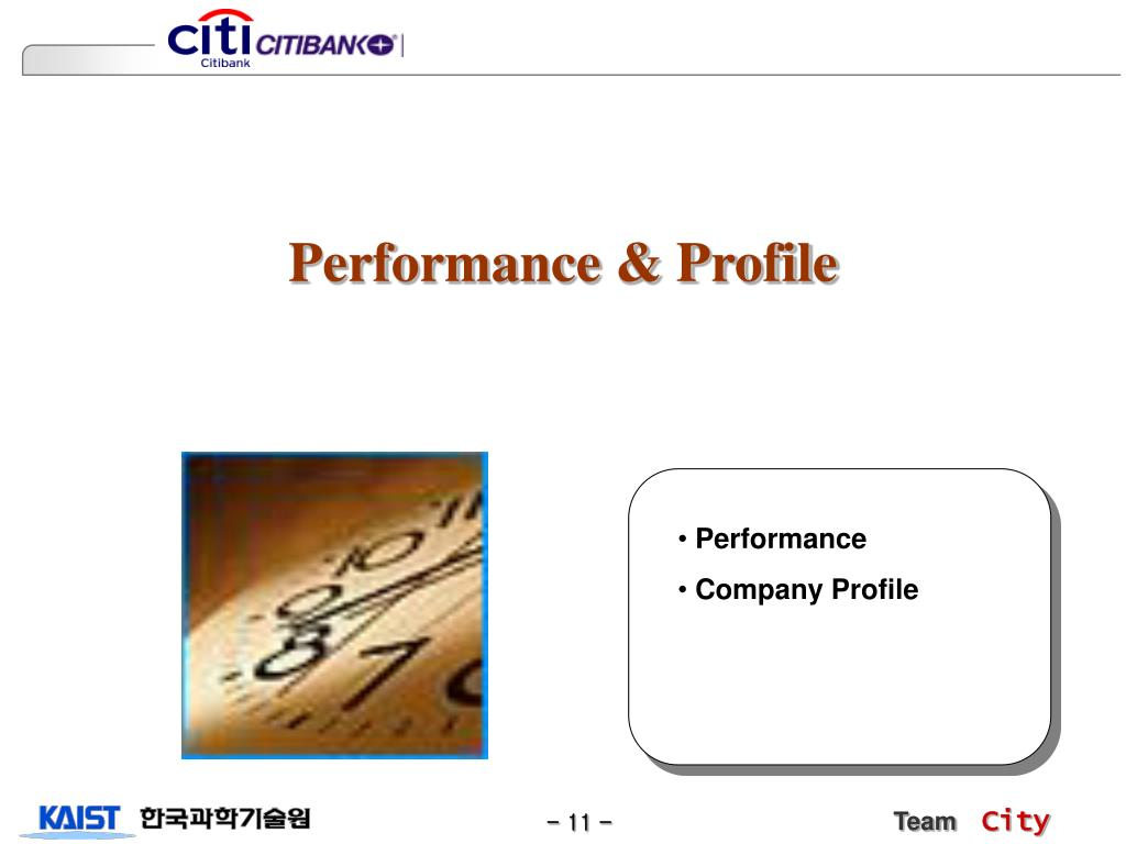 Performance & Profile