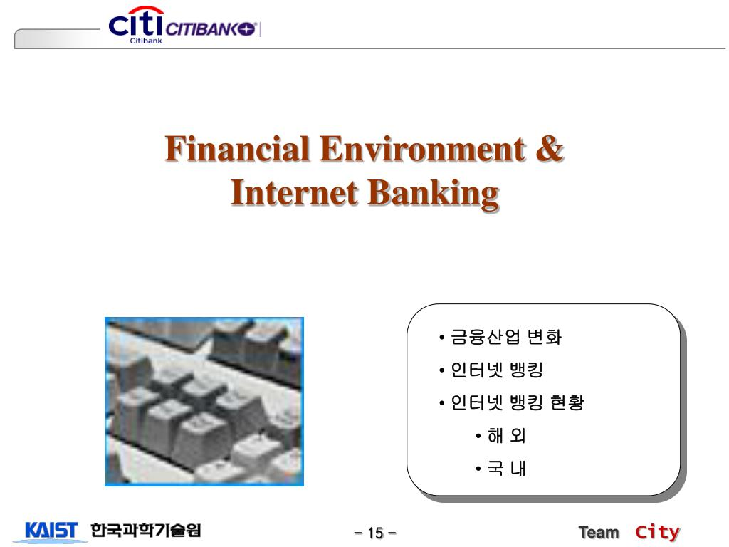 Financial Environment & Internet Banking