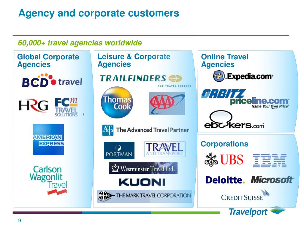 Agency and corporate customers