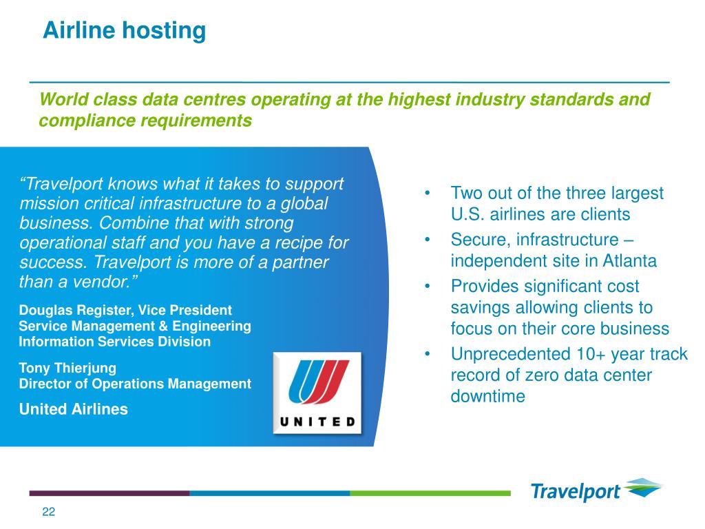 Airline hosting