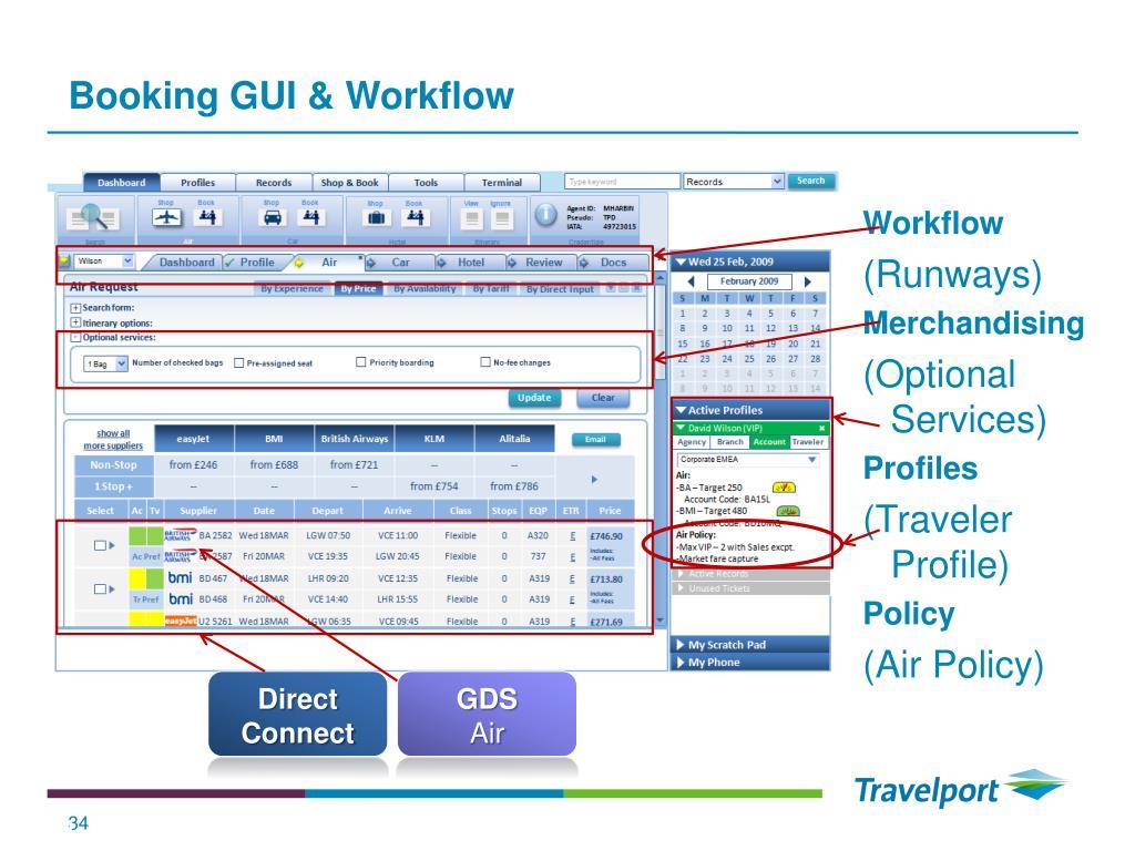 Booking GUI & Workflow