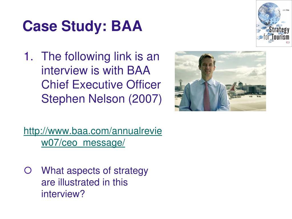 Case Study: BAA