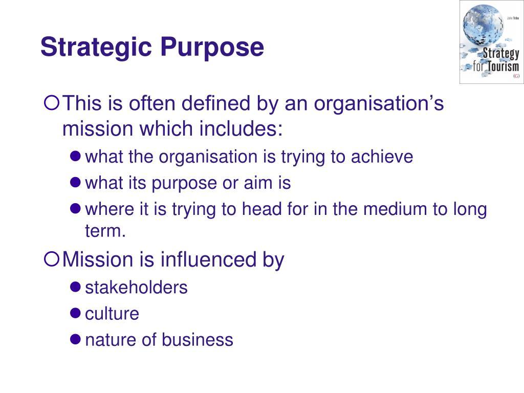 Strategic Purpose