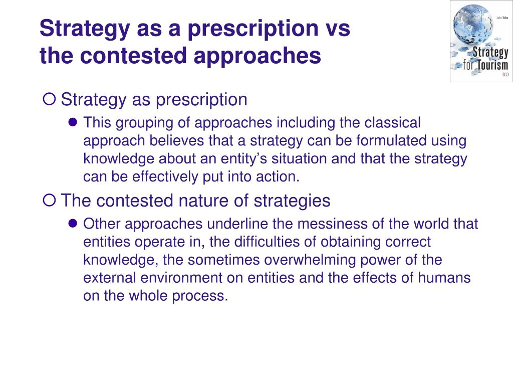 Strategy as a prescription vs the contested approaches