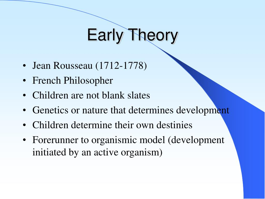 Early Theory