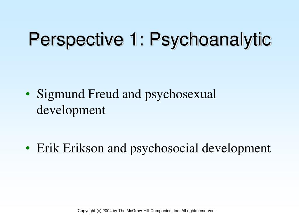 Perspective 1: Psychoanalytic