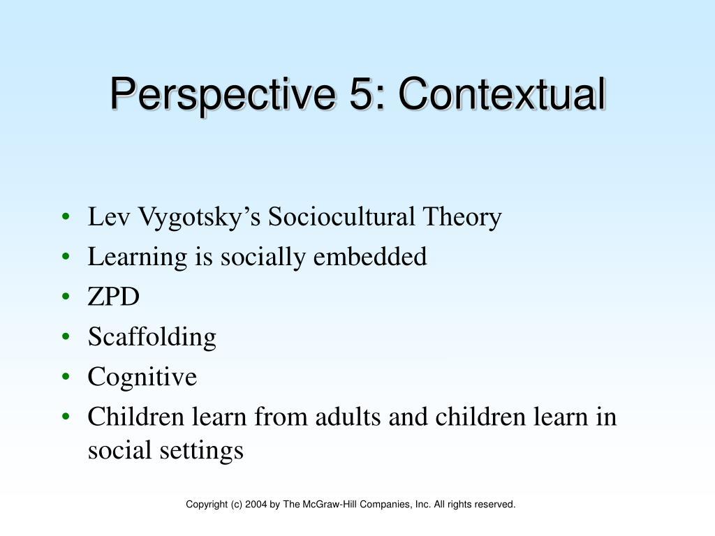 Perspective 5: Contextual