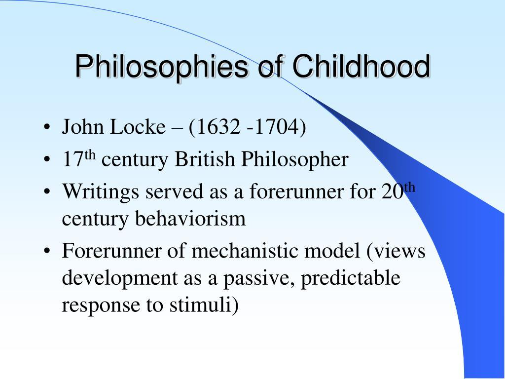 Philosophies of Childhood