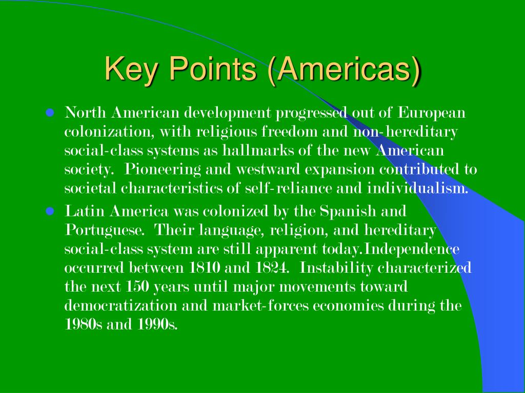 Key Points (Americas)