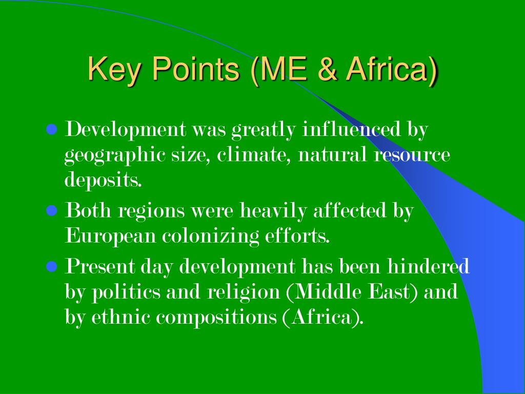 Key Points (ME & Africa)