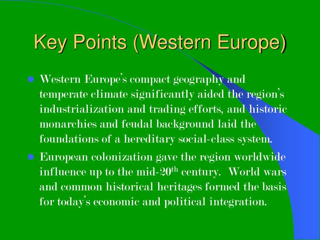 Key Points (Western Europe)