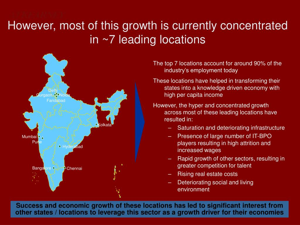 However, most of this growth is currently concentrated in ~7 leading locations