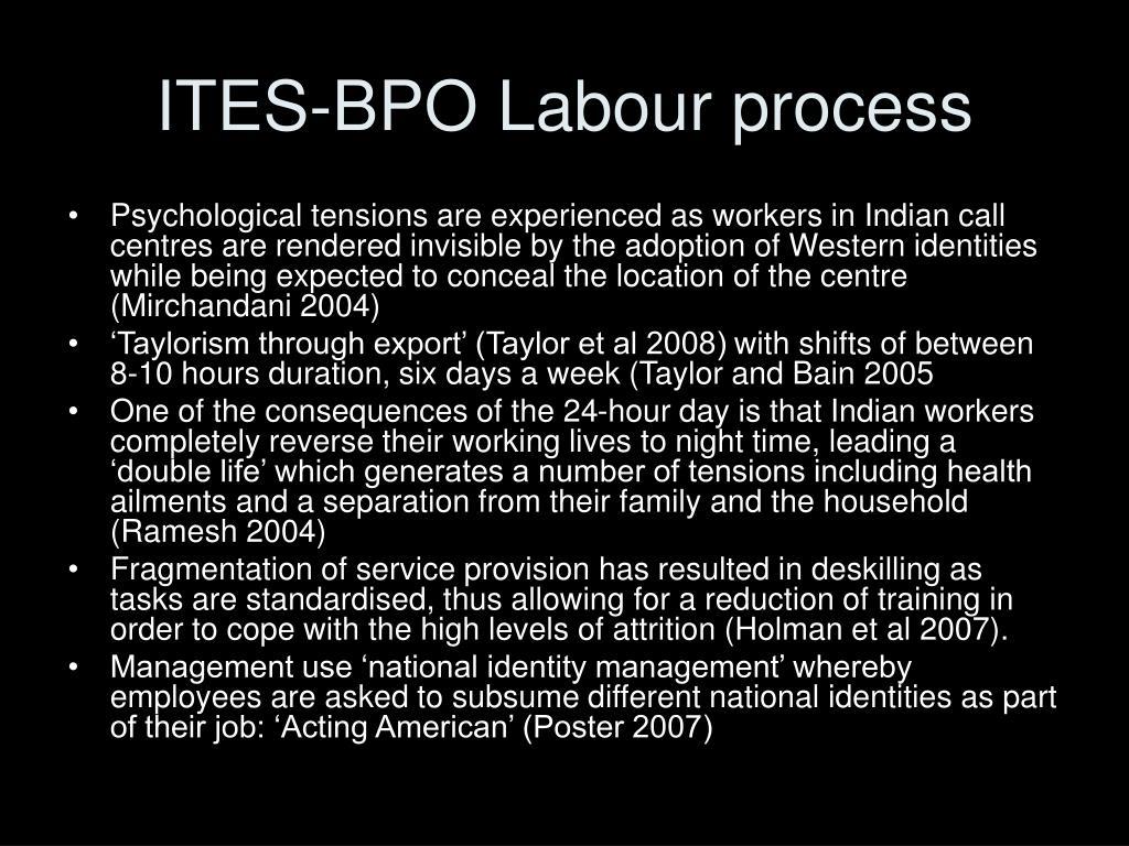 ITES-BPO Labour process