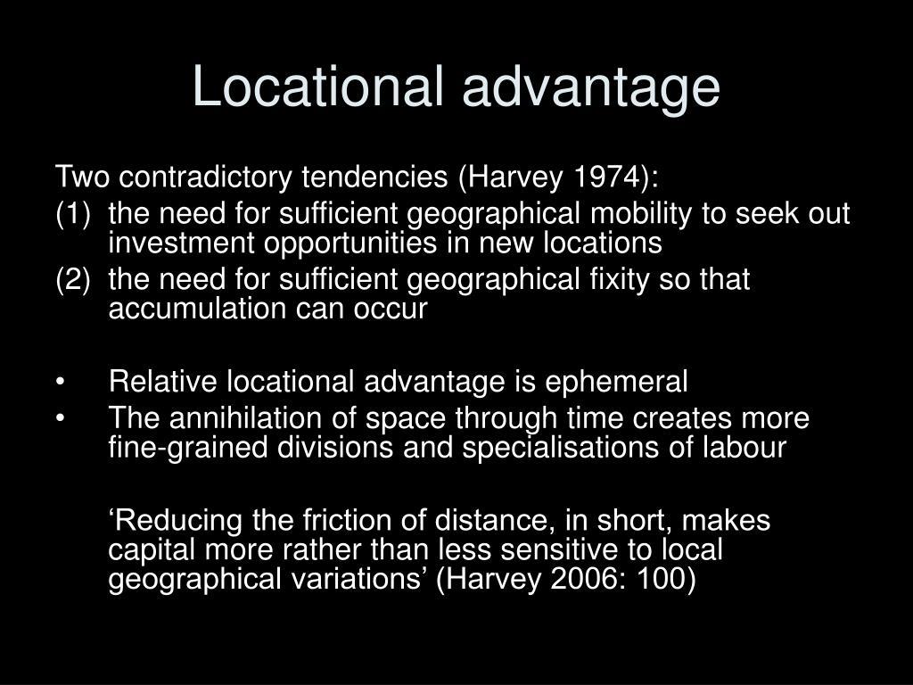 Locational advantage